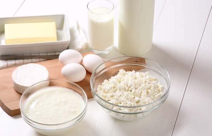 ビタミンB2が豊富な卵と乳製品