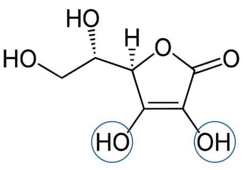 ビタミンCの持っている電子量の化学式