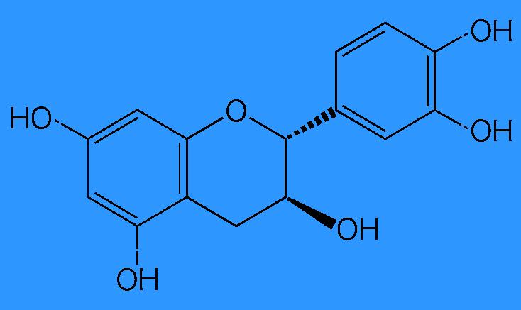 ポリフェノール類のカテキンの構造式